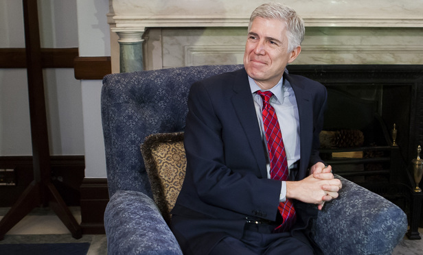 Supreme Court nominee Judge Neil Gorsuch.
