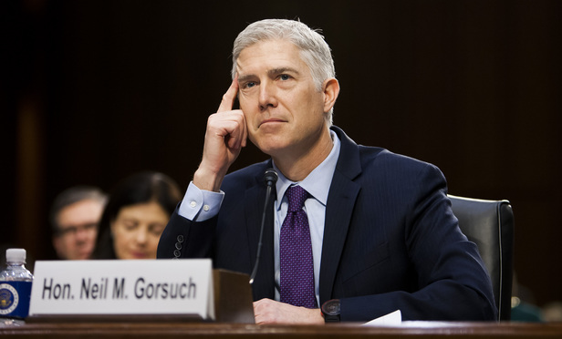 Judge Neil Gorsuch testifies before the Senate Judiciary Committee during the second day of his confirmation hearing to replace the late Justice Antonin Scalia at the U.S. Supreme Court. March 21, 2017.