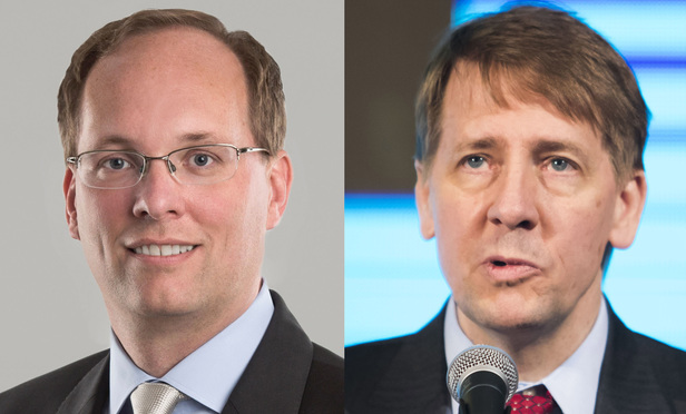 Keith Noreika, left, and Richard Cordray, right.