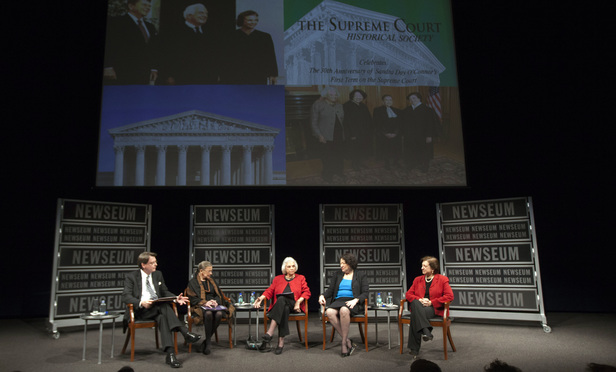Justice Sandra Day O'Connor and the Supreme Court's three other female justices discussed the exercise class during a 2012 forum at the Newseum that celebrated O'Connor's legacy.