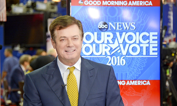 Former Trump campaign chairman Paul Manafort.
