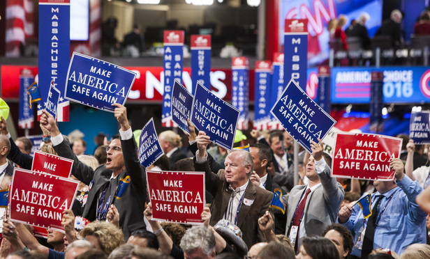 Republican National Convention in Cleveland, OH (Natan Dvir/Polaris Images/Newscom).