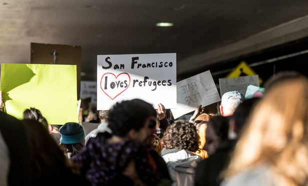 Thousands of protesters decended on SFO in response to President Trump's executive order denying refugees and foreign citizens from predominantly Muslim countries entry into the U.S.