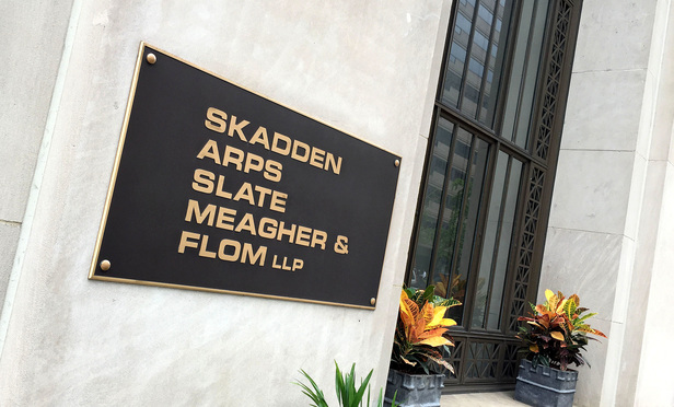 Skadden, Arps, Slate, Meagher & Flom Washington, D.C. offices. June 19, 2015. Photo by Diego M. Radzinschi/THE NATIONAL LAW JOURNAL.
