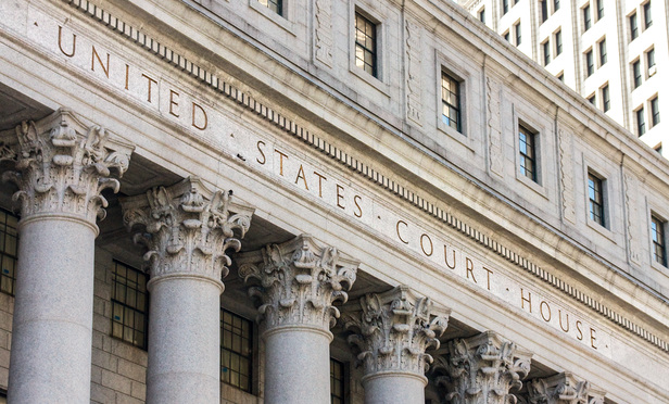Facade of the United States Court House of the Southern District of New York in Lower Manhattan.