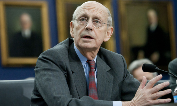 Justice Stephen Breyer on Capitol Hill in March 2015.
