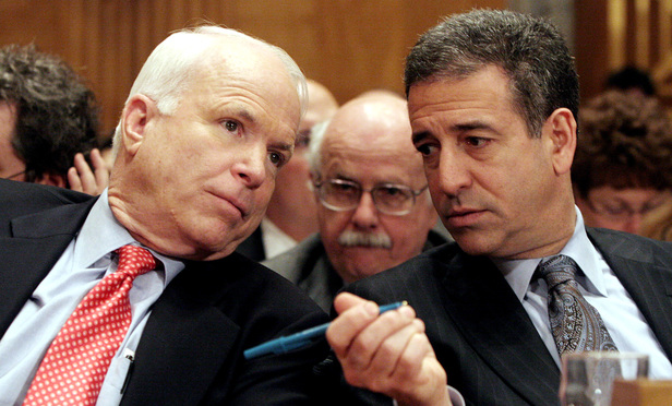LAWMAKERS: Sen. John McCain and former Sen. Russ Feingold, sponsors of the Bipartisan Campaign Reform Act, in 2006.