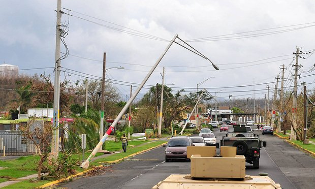 Damage caused in Puerto Rico by Hurricane Maria .