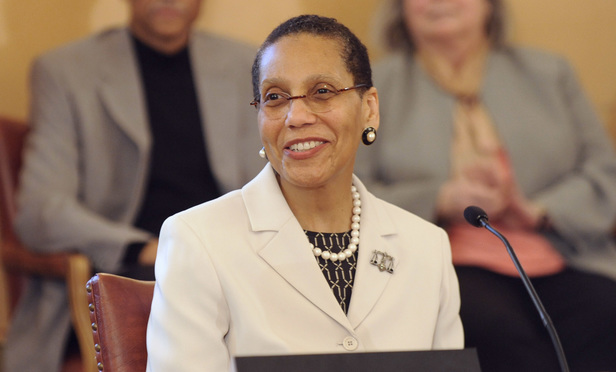 Justice Sheila Abdus-Salaam appears at a New York state Senate Judiciary committee meeting at the Capitol in Albany, N.Y., on Tuesday, April 30, 2013. (Photo by Tim Roske)