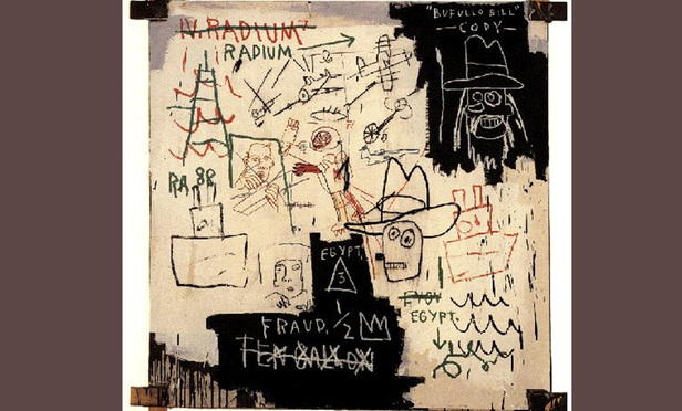 'Future Science Versus the Man' by Jean-Michael Basquiat