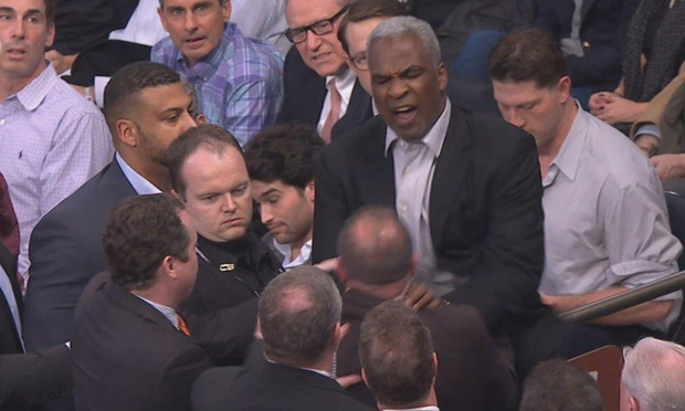 Charles Oakley at Madison Square Garden on Feb. 8.