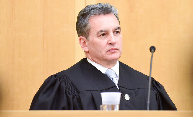 Members of the New York State Court of Appeals on April 25, 2017. Justice Michael Garcia... The Court of Appeals, normally based in Albany, NY, heard arguments for three days in the Courthouse in White Plains....(David Handschuh/NYLJ)