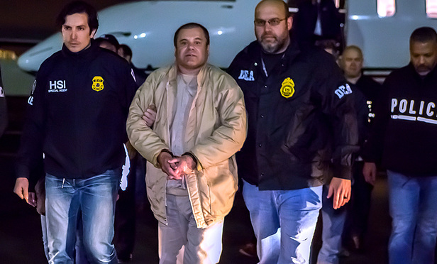 El Chapo in U.S. custody after his extradition from Mexico.