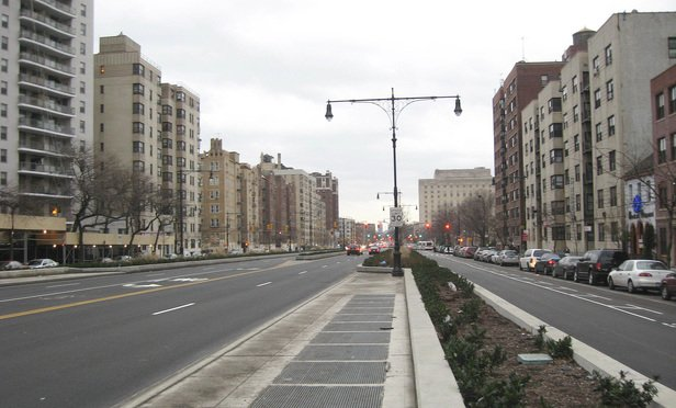 Looking south on Grand Concourse at 165th Street in the Bronx.