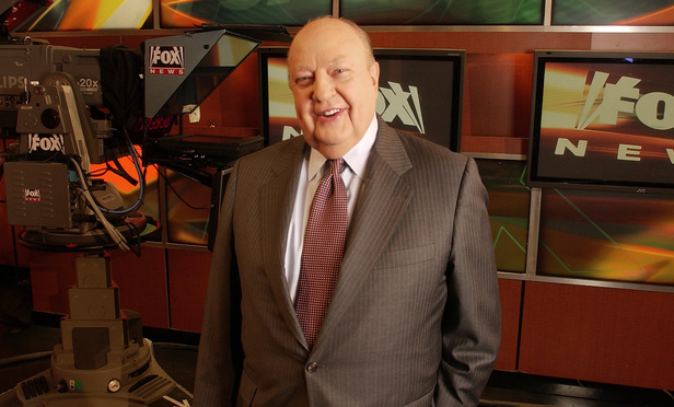 Roger Ailes poses at Fox News in New York on Sept. 29, 2006.