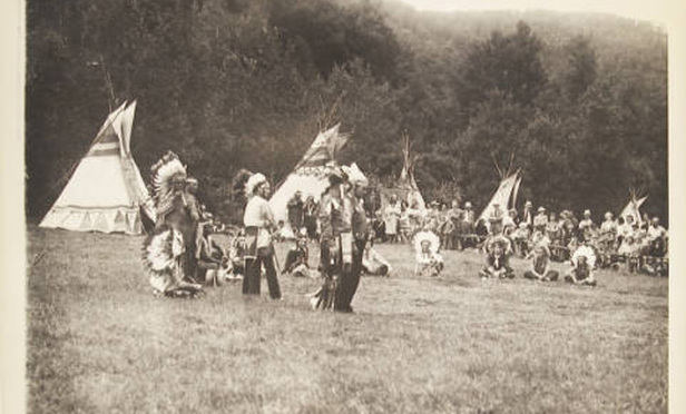 A powwow on the Schaghticoke Reservation in Connecticut, sometime in 1939 or 1940.