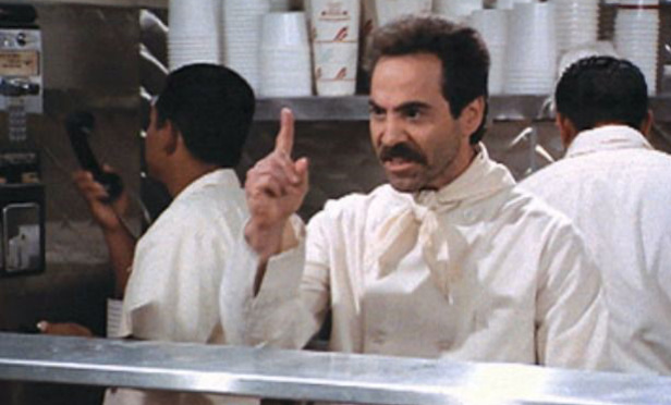 "Actor Larry Thomas, who popularized the phrase ""No soup for you!"" on Seinfeld"
