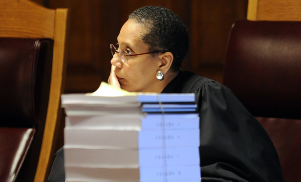 Judge Sheila Abdus-Salaam listens to arguments at the Court of Appeals in 2013.