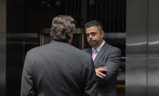 Former Dewey & LeBoeuf finance director Francis Canellas outside the firm's Manhattan offices in May 2012.