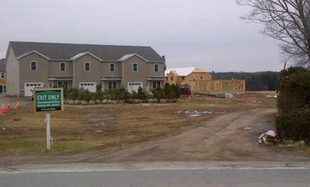 The Chestnut Ridge housing development has 51 out of a planned 396 townhouses constructed.