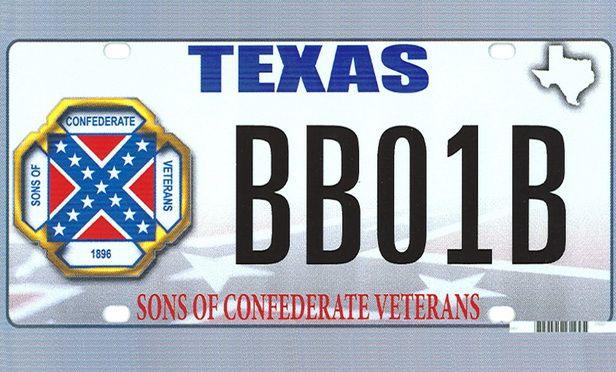 The design of a proposed Texas state license plate