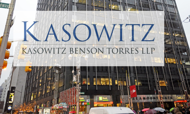 Kasowitz Benson Torres' New York office at 1633 Broadway