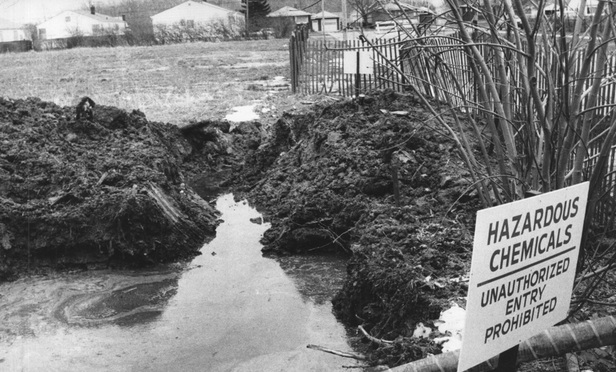 The toxic waste site in the Love Canal section of Niagara Falls in the 1970s.