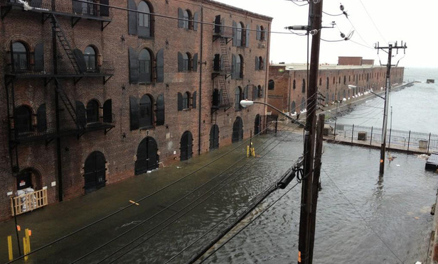 The Red Hook neighborhood of Brooklyn was flooded during Hurricane Sandy.