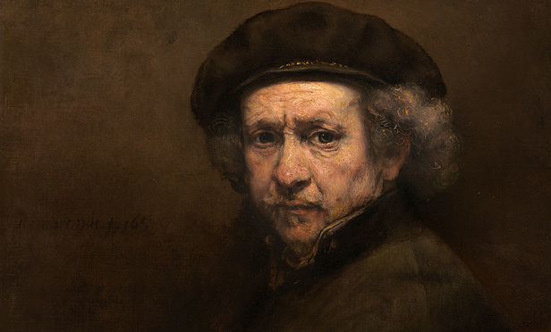 Self Portrait with Beret and Turned-Up Collar, Rembrandt, 1659