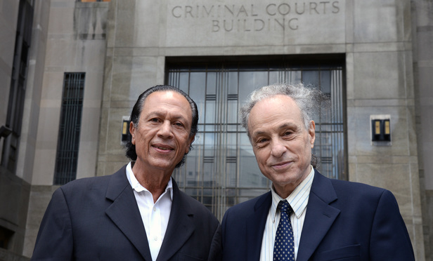 Legal Aid attorney Victor Castelli, right, and Angel Rodriguez, executive director of the Andrew Glover Youth Program
