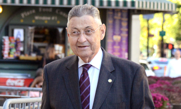 Sheldon Silver on his way to federal court Wednesday.