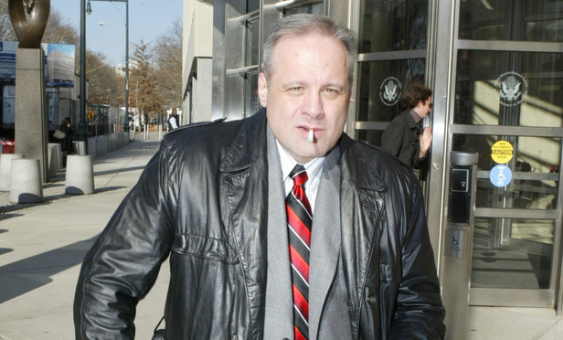 Harold Turner in front of the Eastern District courthouse in December 2009
