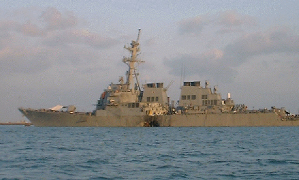 USS Cole after the 2000 terrorist attack in Yemen