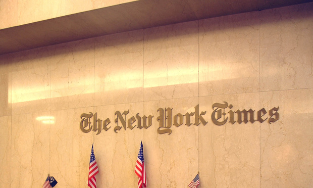 NYT Dropped From Class Action Over Alleged Billing Scam