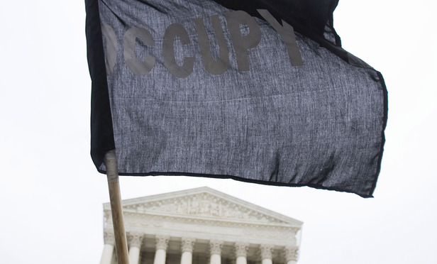 An Occupy demonstration outside the U.S. Supreme Court in 2012.
