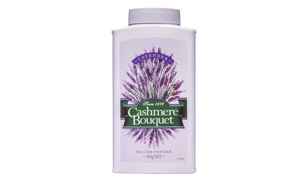 Cashmere Bouquet talcum powder.