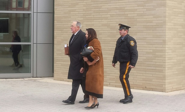 Pa. Supreme Court Justice J. Michael Eakin arrives Dec. 21 at the Northampton County Courthouse.
