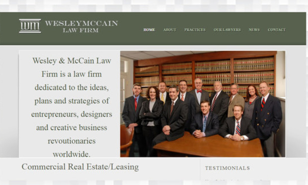 screenshot of a fake legal firm website.