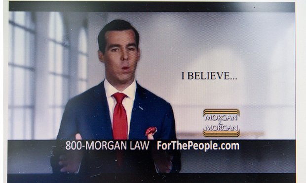 Screen Shot of Matt Morgan, Morgan and Morgan Ad.