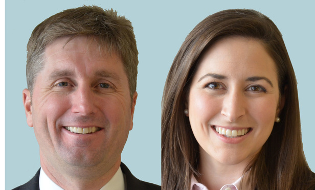 Josh Quinter, left, and Karin Corbett, right, of Offit Kurman.