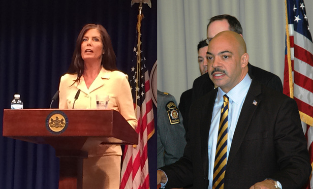 Kathleen Kane and Seth Williams.