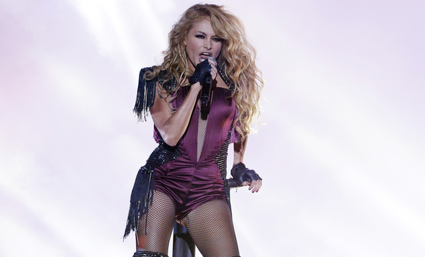 Singer Paulina Rubio performs at the Latin Billboard Awards in Coral Gables