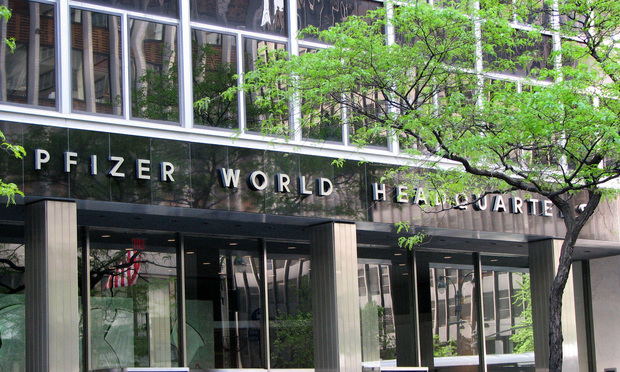 Pfizer World Headquarters in New York City.