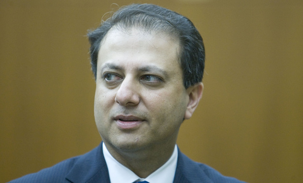 U.S. Attorney for the Southern District of New York Preet Bharara