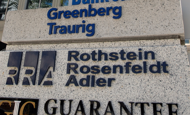 Former office of Rothstein Rosenfeldt Adler