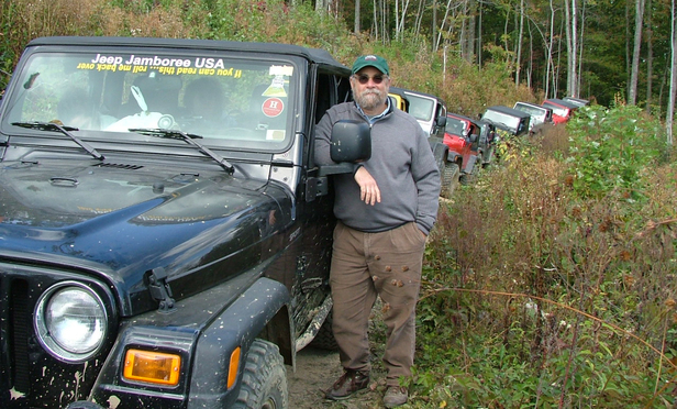 Roy Sobelson and his Jeep. Weekend events called Jeep Jamborees allow Jeep owners to give their vehicles a workout in the wild.
