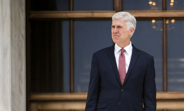 Associate Justice Neil Gorsuch.