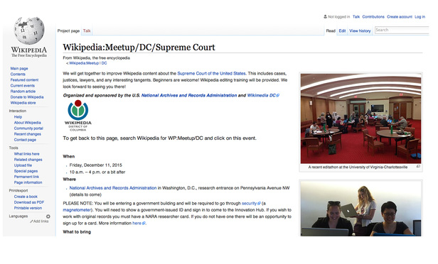 A Wikipedia 'Meetup' for Supreme Court Aficionados | Supreme