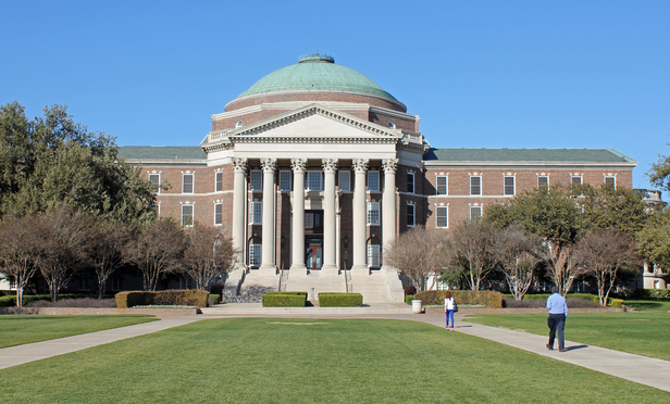 Dallas Hall on the Southern Methodist University Campus in Dallas, Texas