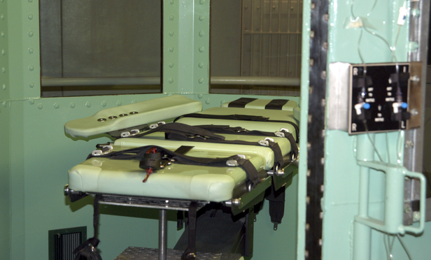 A lethal injection room at San Quentin